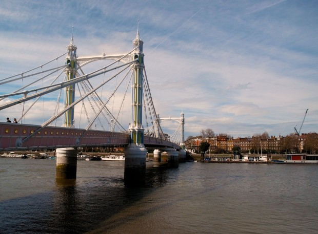 Albert Bridge in sunny London