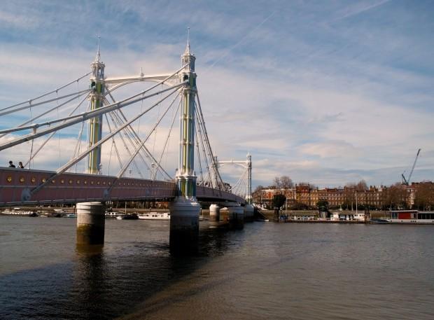Albert Bridge in sunny London